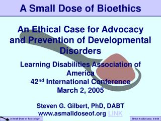 A Small Dose of Bioethics