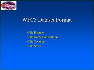 WFC3 Dataset Format