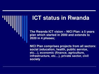 ICT status in Rwanda