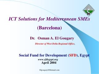 ICT Solutions for Mediterranean SMEs (Barcelona)
