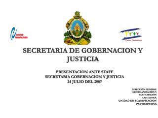 SECRETARIA DE GOBERNACION Y JUSTICIA