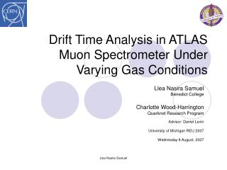 Drift Time Analysis in ATLAS Muon Spectrometer Under Varying Gas Conditions