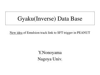 Gyaku(Inverse) Data Base