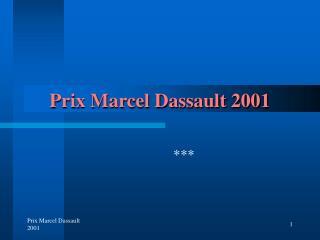 Prix Marcel Dassault 2001