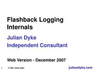 Flashback Logging  Internals