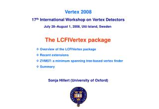 The LCFIVertex package