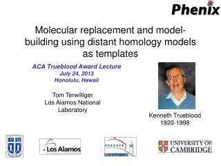 Molecular replacement and model-building using distant homology models as templates