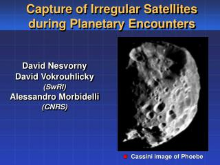 David Nesvorny David Vokrouhlicky (SwRI) Alessandro Morbidelli (CNRS)