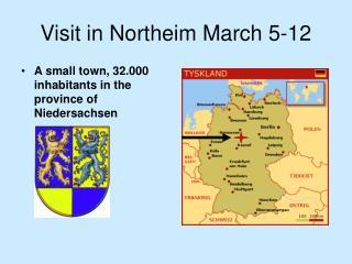 Visit in Northeim March 5-12