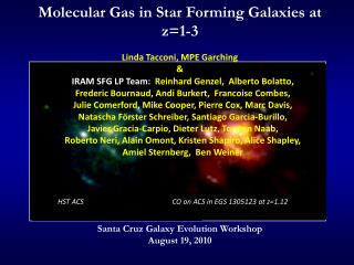 Molecular Gas in Star Forming Galaxies at z=1-3