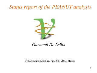 Status report of the PEANUT analysis