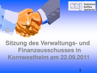 Sitzung des Verwaltungs- und Finanzausschusses in Kornwestheim am 22.09.2011