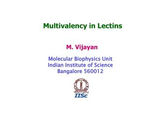 Multivalency in Lectins