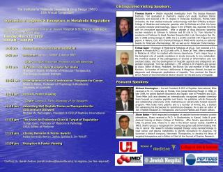 The Institute for Molecular Diversity & Drug Design (IMD 3 )  15th Annual Symposium