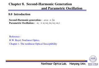 Chapter 8.  Second-Harmonic Generation