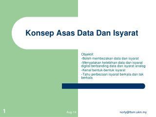 Konsep Asas Data Dan Isyarat