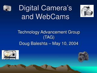 Digital Camera's and WebCams