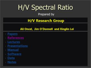 H/V Spectral Ratio
