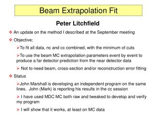 Beam Extrapolation Fit