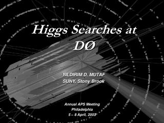 Higgs Searches at D�