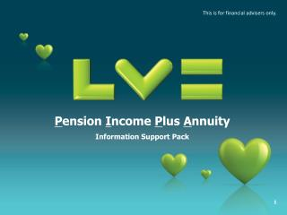 P ension  I ncome  P lus  A nnuity Information Support Pack
