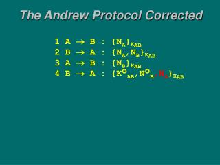 The Andrew Protocol Corrected