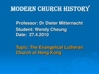 Modern Church History