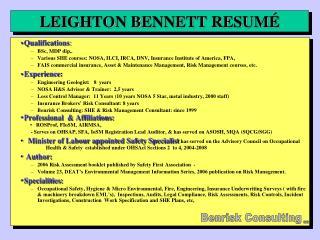 LEIGHTON BENNETT RESUM �