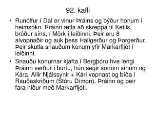 92. kafli