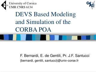 DEVS Based Modeling and Simulation of the CORBA POA