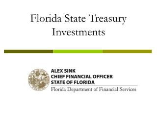 Florida State Treasury  Investments