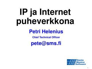 IP ja Internet puheverkkona