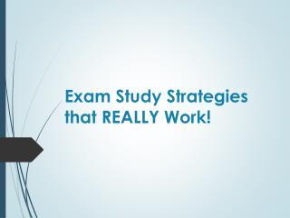 Exam Study Strategies that REALLY Work!