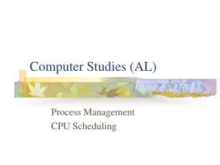 Computer Studies (AL)