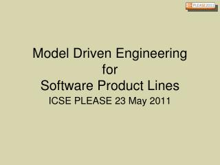 Model Driven Engineering for Software Product Lines