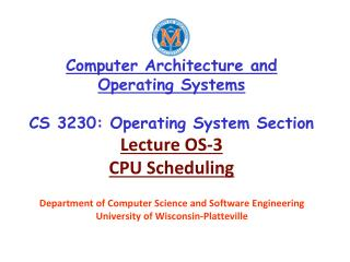 Department of Computer Science and Software Engineering  University of Wisconsin-Platteville