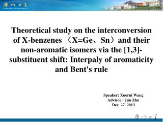Speaker: Xuerui Wang Advisor : Jun Zhu   Dec. 27. 2013