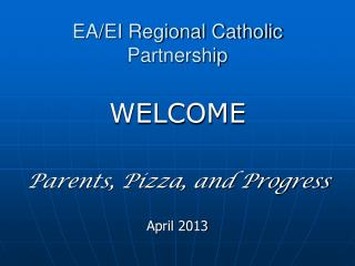 EA/EI Regional Catholic Partnership
