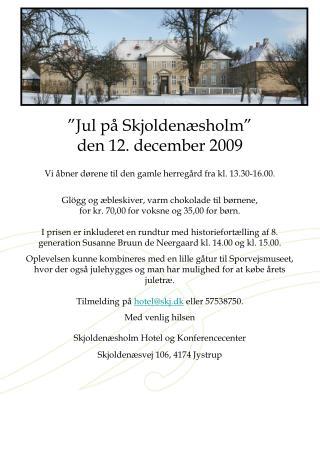 Jul paa Skjoldenaesholm 2009 annonce