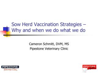 Sow Herd Vaccination Strategies – Why and when we do what we do