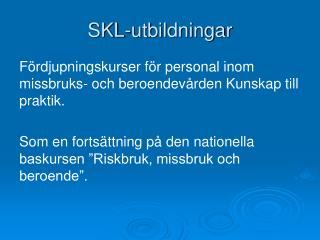 SKL-utbildningar