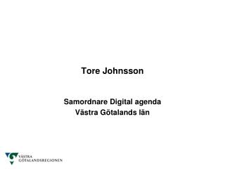 Tore Johnsson