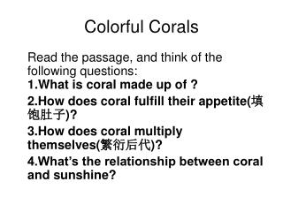 Colorful Corals