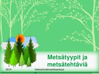 Metsätyypit ja metsätehtäviä