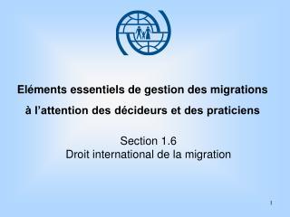 El ments essentiels de gestion des migrations     l attention des d cideurs et des praticiens