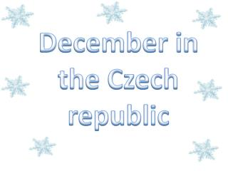December in the Czech republic