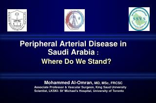 Peripheral Arterial Disease in Saudi Arabia  :