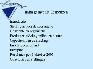 haha gemeente Terneuzen