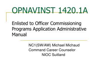 OPNAVINST 1420.1A