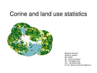 Corine and land use statistics